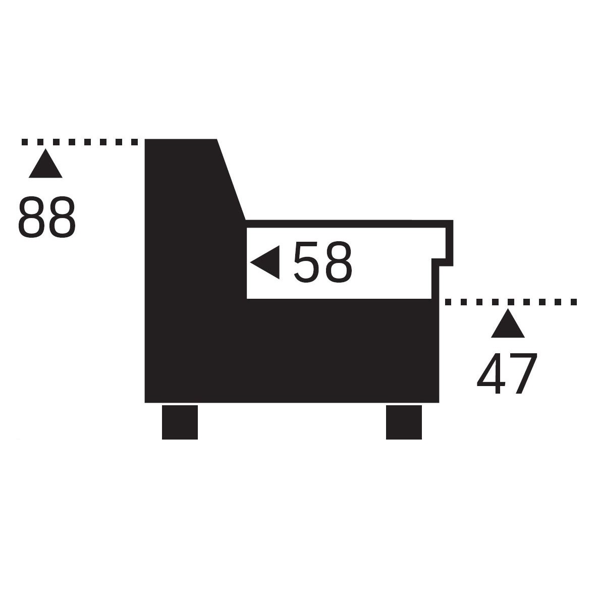 Coltar living extensibil pe stanga Coast 2F-OTM/BK KL, cu lada, gri, 264 x 217 x 88 cm, 2C