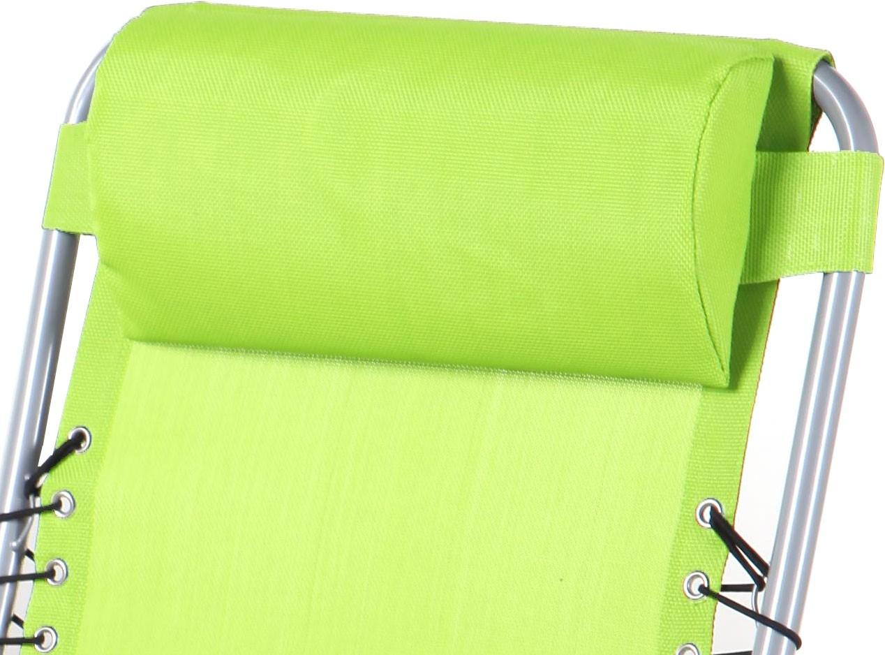 Scaun camping pliant 331.170GN structura metalica verde 62 x 109 cm