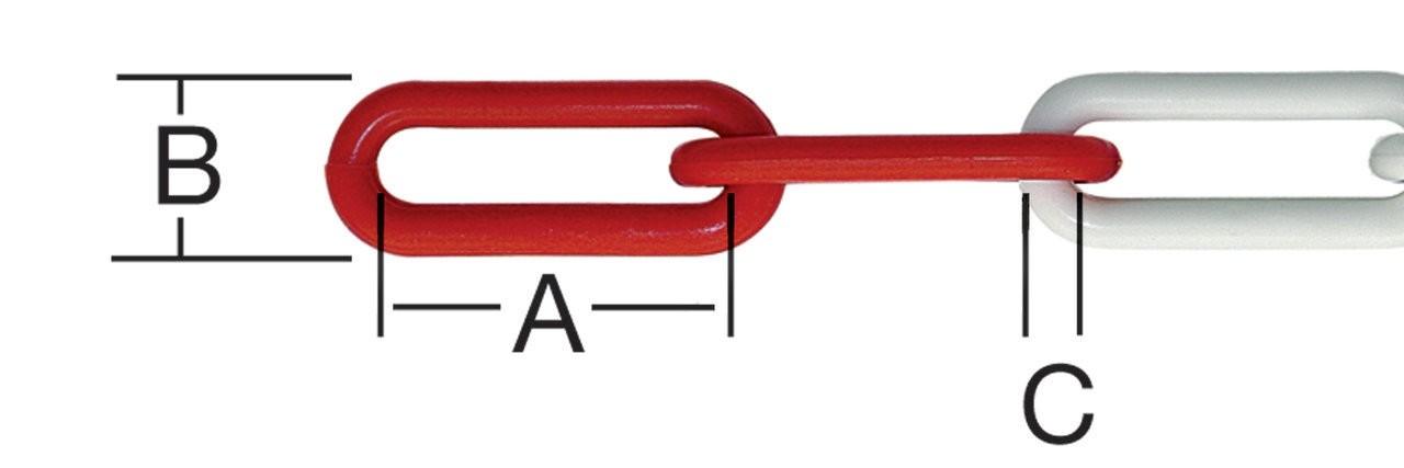 Lant din plastic, pentru bariera, 6 mm