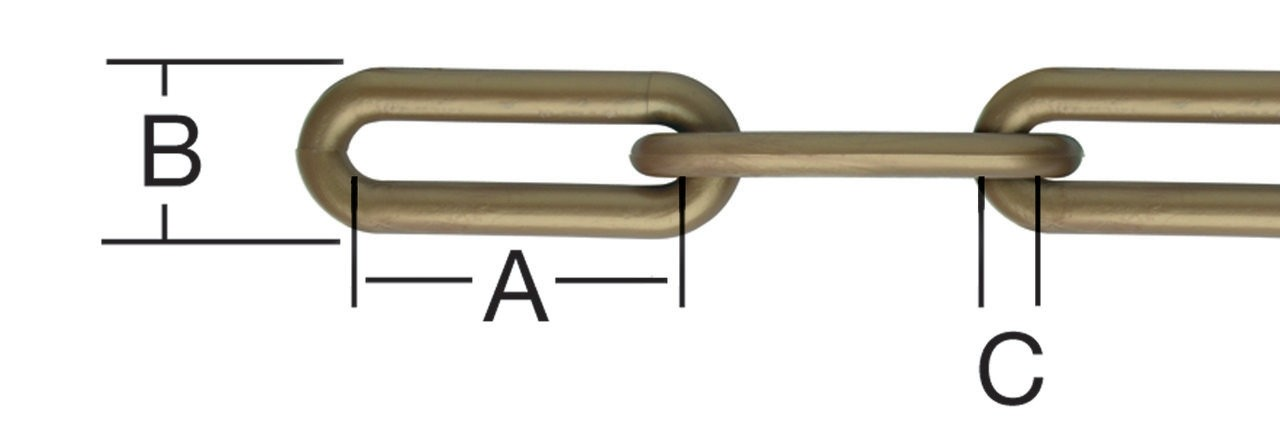Lant din plastic, pentru bariera, maro, 10 mm