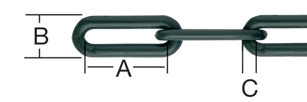 Lant din plastic, pentru bariera, negru, 10 mm