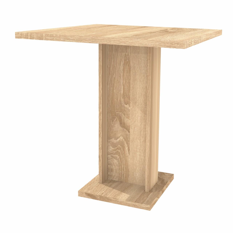 Masa bucatarie fixa Kirra, dreptunghiulara, 2 persoane, stejar bardolino, 69 x 68 x 74 cm, 2C