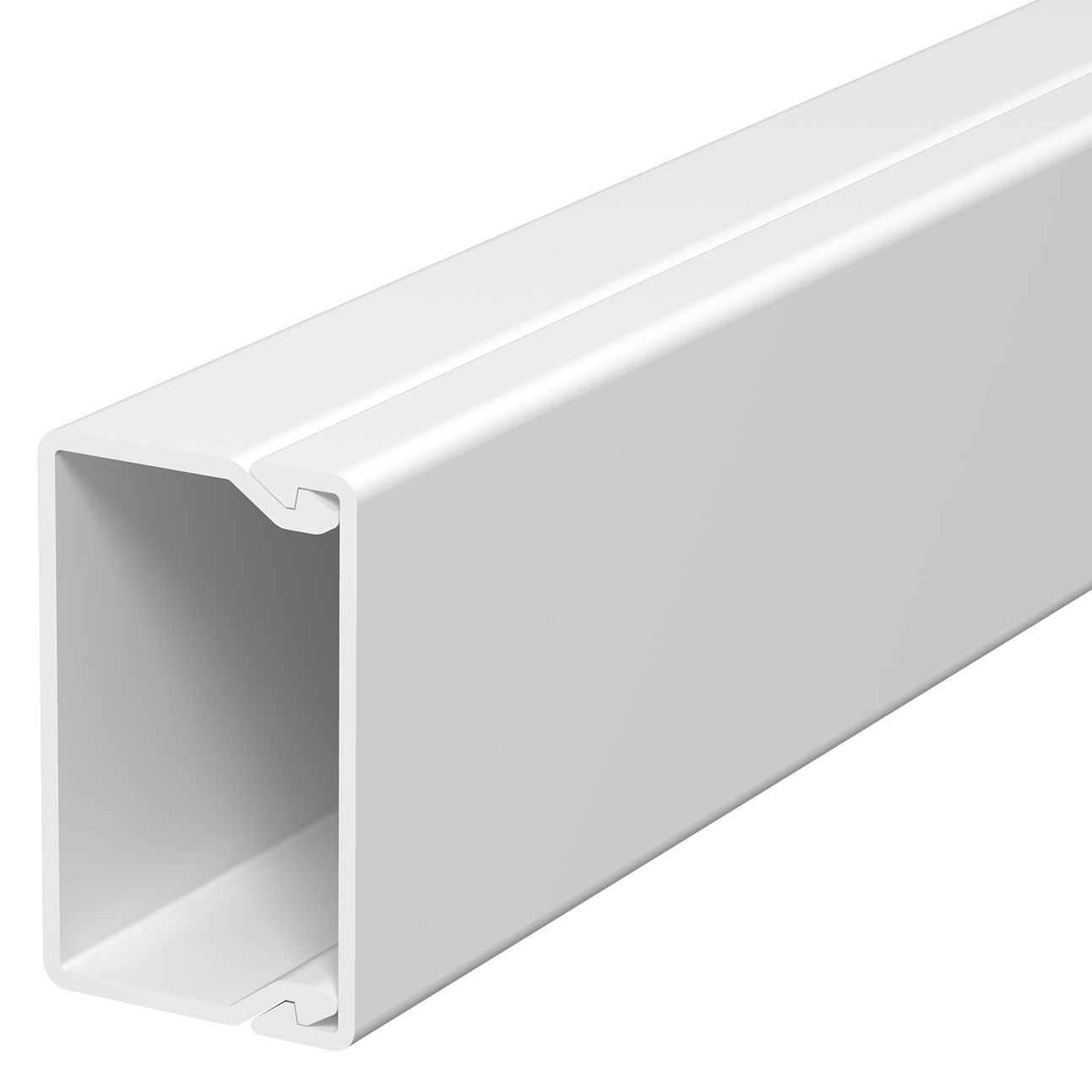 Canal WDK 6191061, 25 x 40 mm, cu capac, alb, PVC