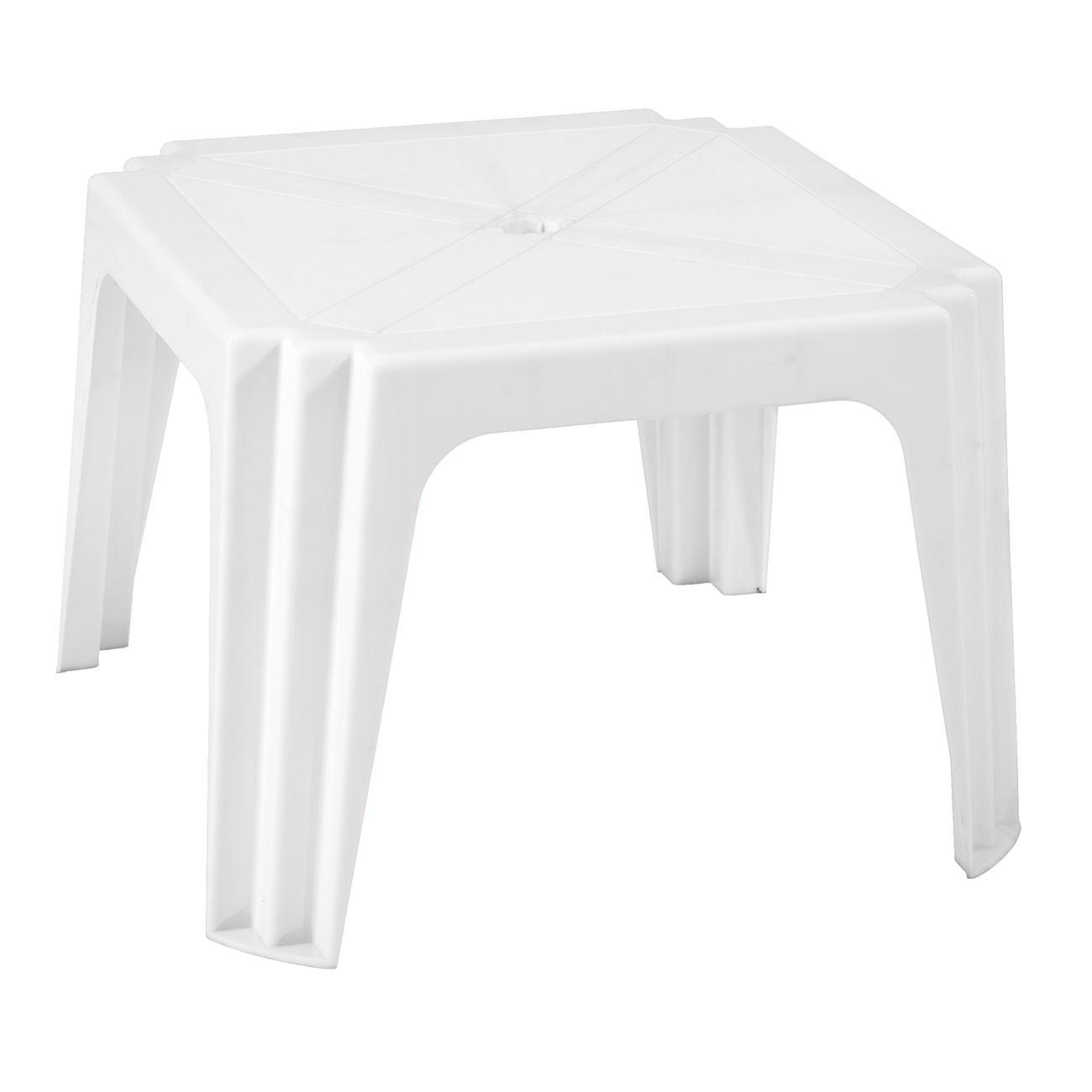 Masa fixa pentru gradina Aqua, plastic, patrata, 4 persoane, 64.5 x 64.5 x 44 cm