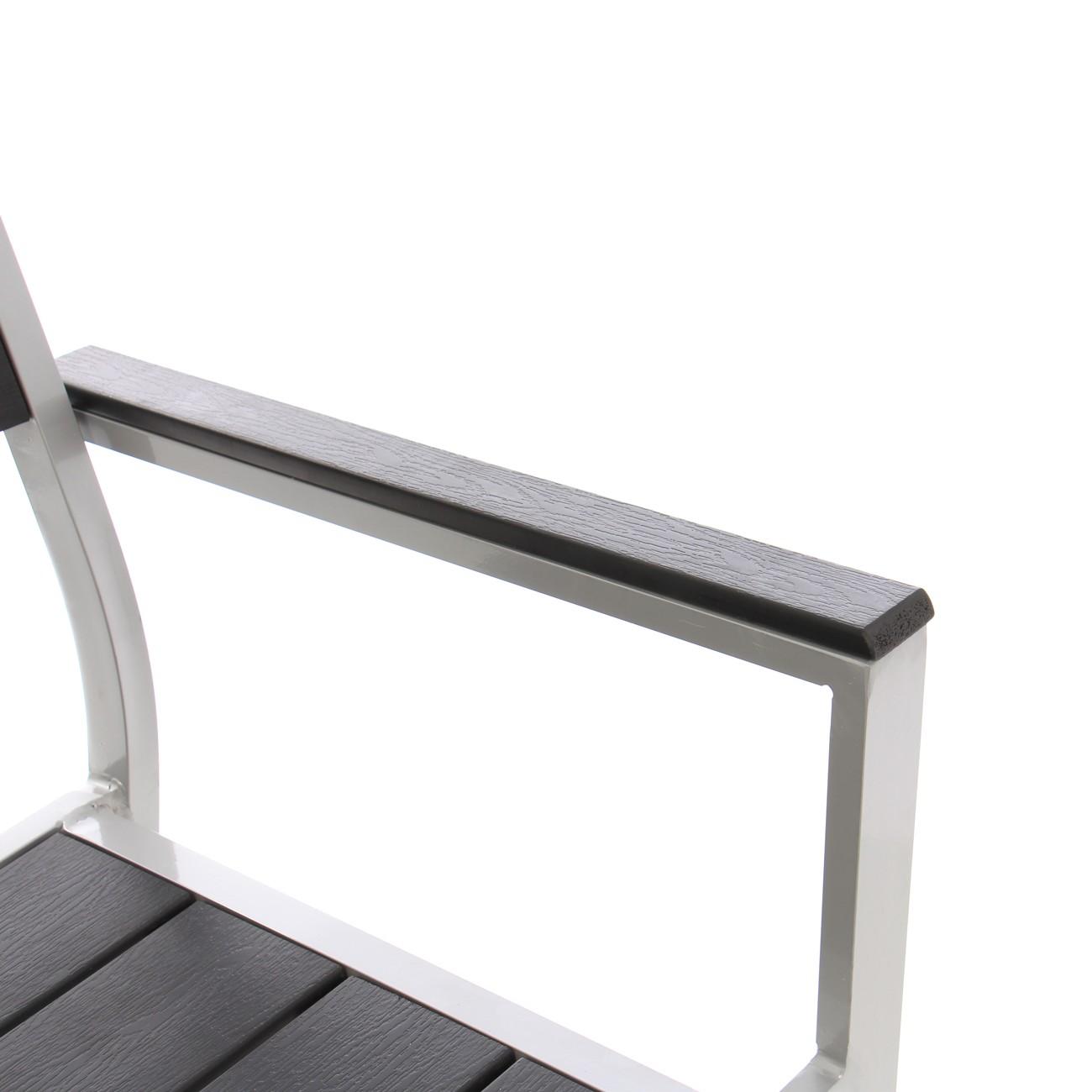 Scaun pentru gradina Kansas, metal + plastic, negru