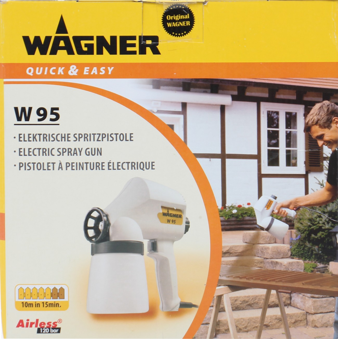Pistol de vopsit electric, Wagner W 95, 70 W