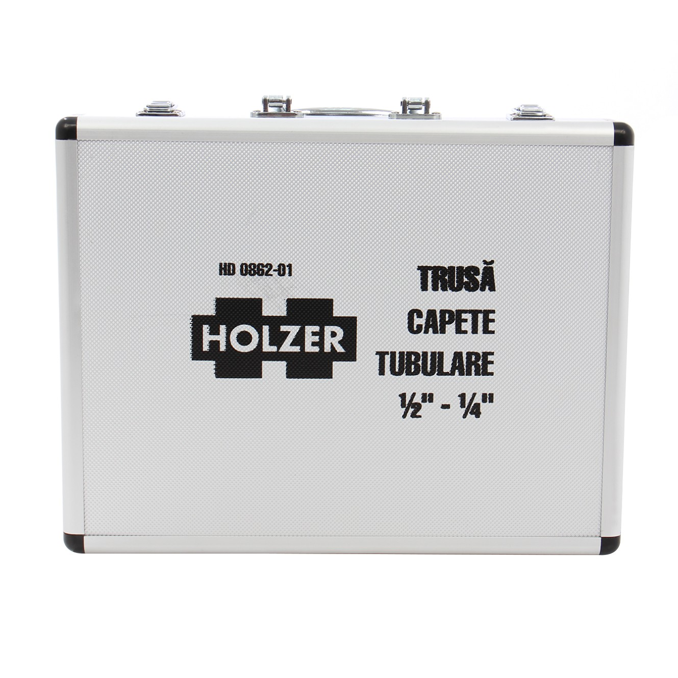 Trusa capete tubulare 1/2 - 1/4 inch Holzer, 62 piese