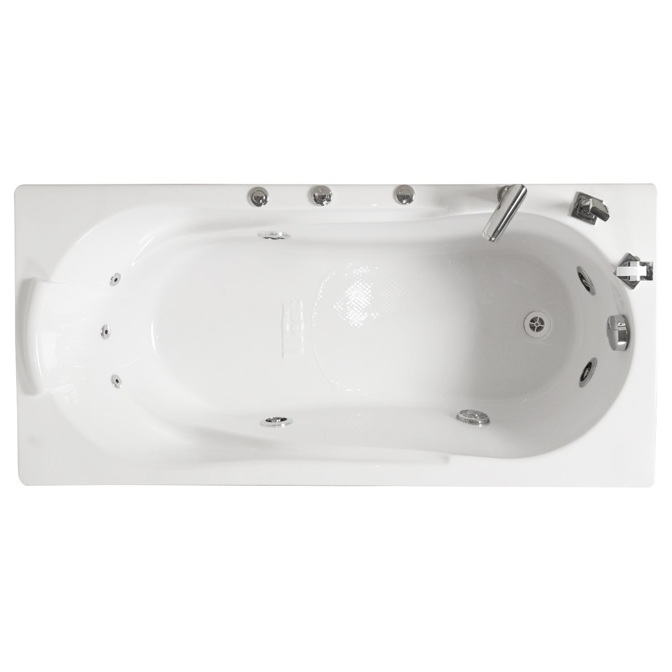 Cada baie cu hidromasaj rectangulara, Afrodita, acril, 160 x 70 cm