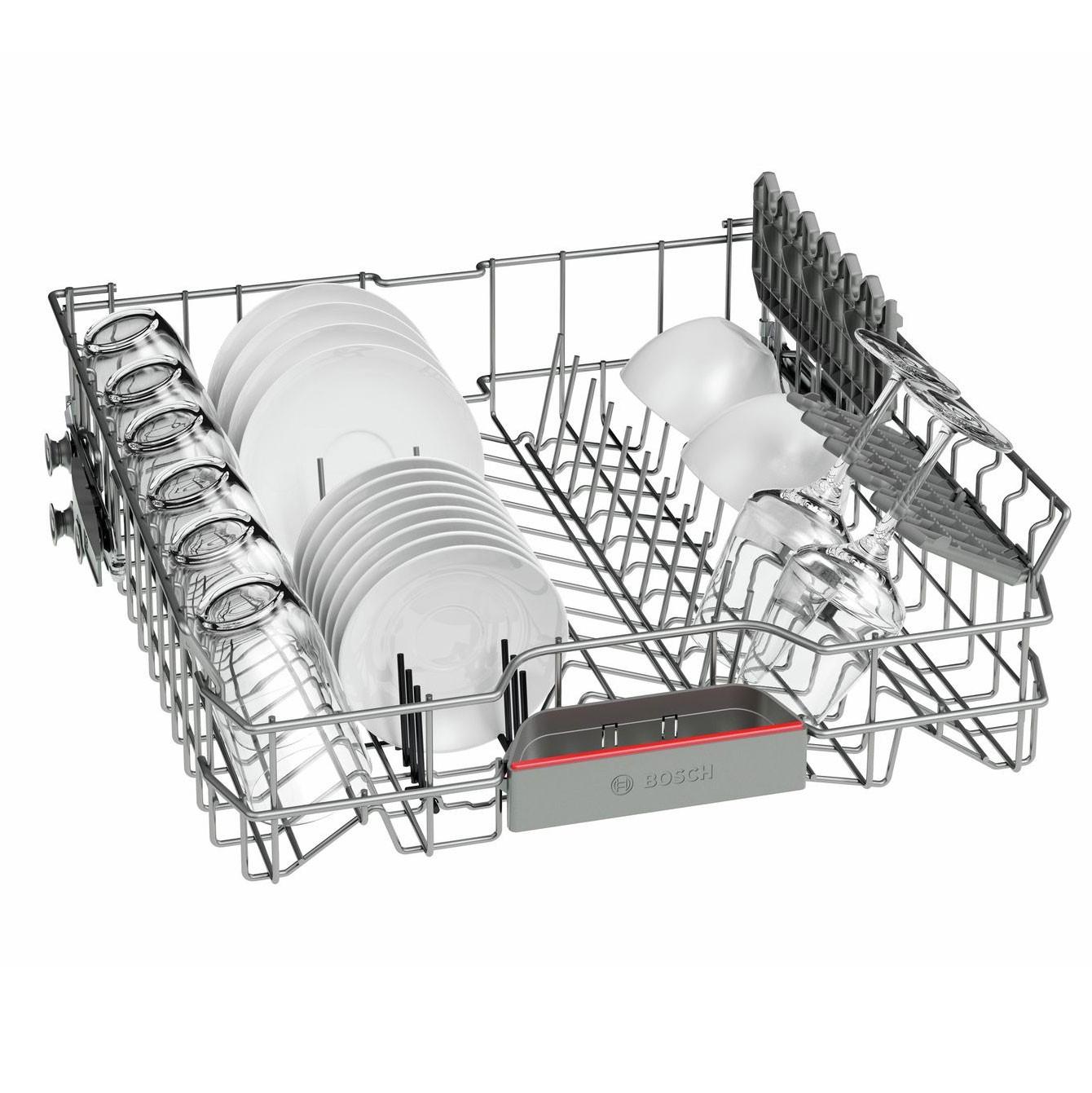 Masina de spalat vase incorporabila Bosch SMV46GX01E, 12 seturi, 6 programe, clasa A++, latime 60 cm, alb