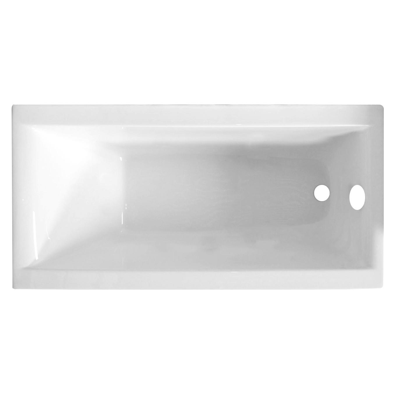 Cada baie rectangulara West Adelaide, acril, 170 x 75 cm, masca frontala si suport incluse