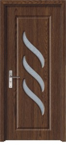 Usa de interior din lemn cu geam Super Door F12-88-S stanga / dreapta stejar inchis 203 x 88 cm