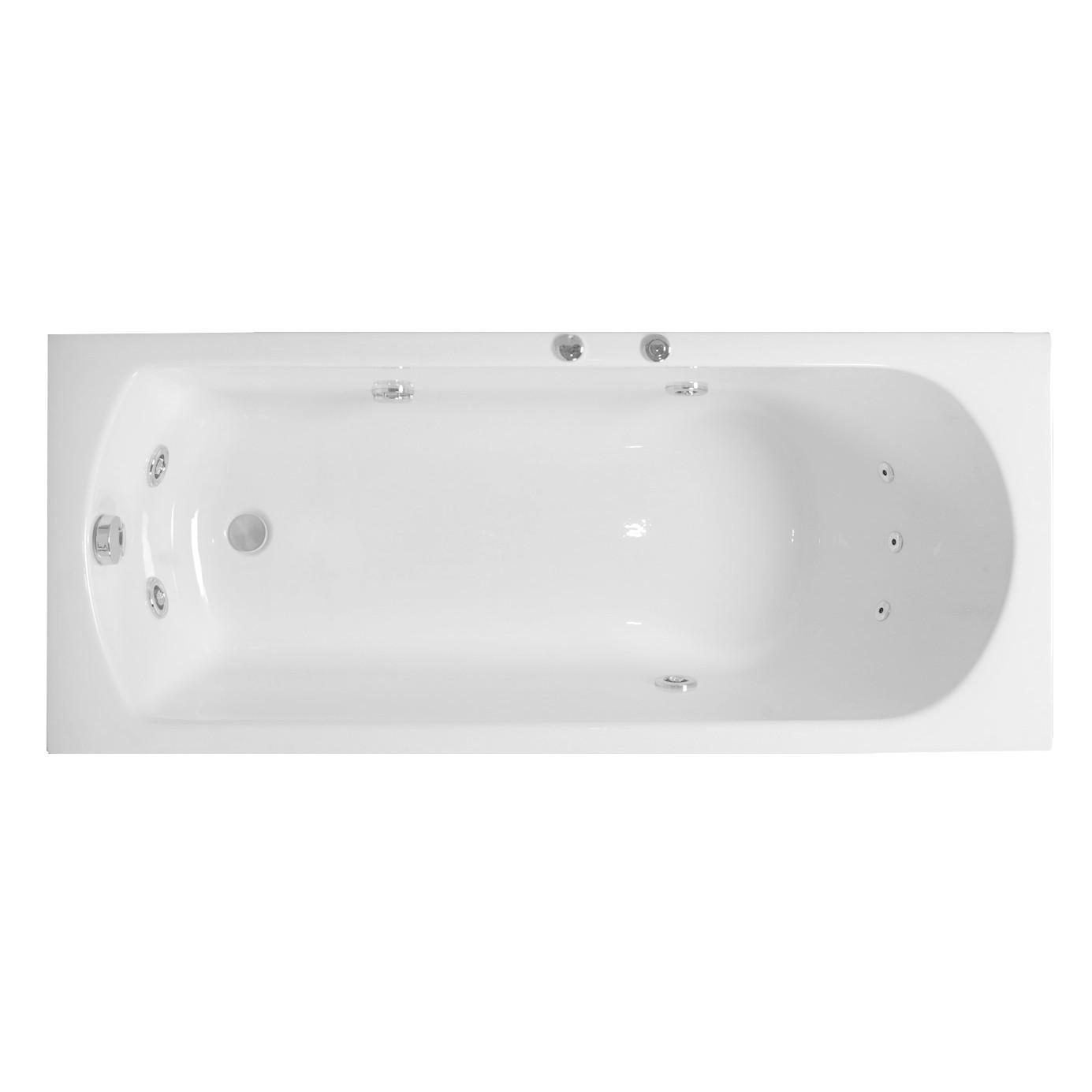 Cada baie cu hidromasaj rectangulara, Amalia, acril, 160 x 70 cm