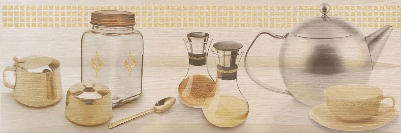 Decor faianta bucatarie Brunei Cocina mat crem 25 x 75 cm