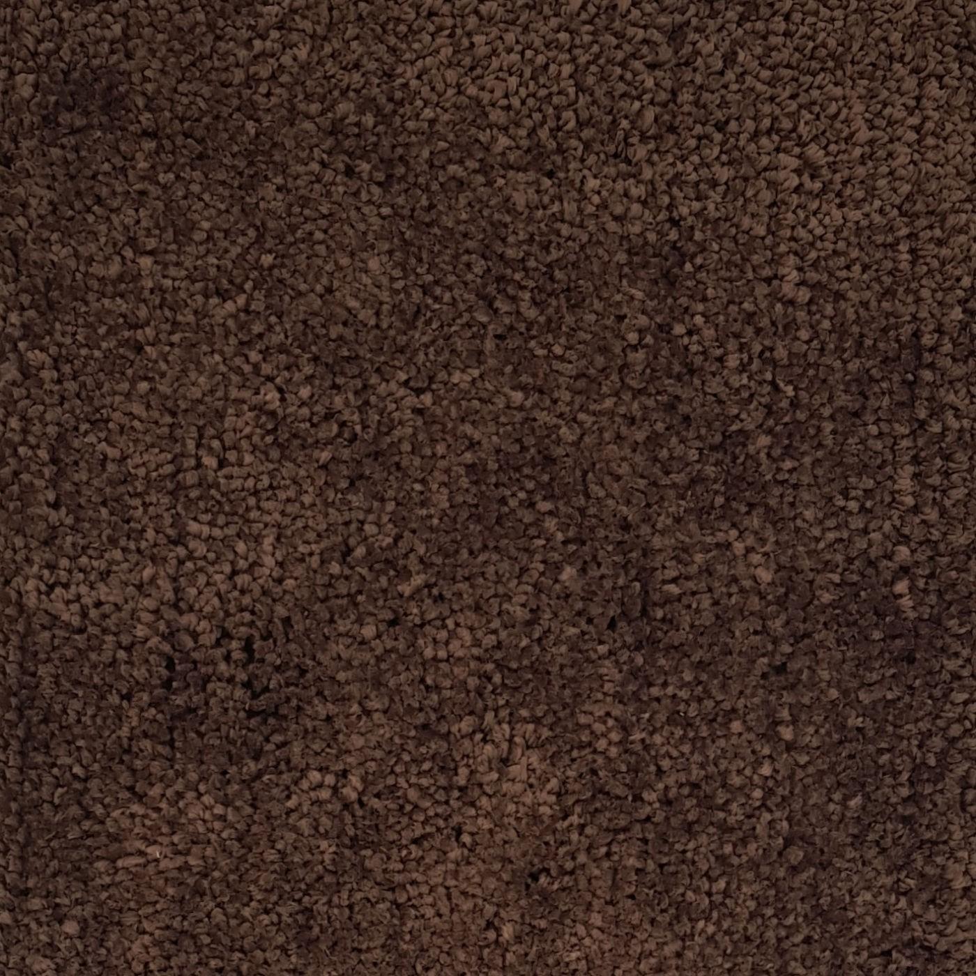 Covor living / dormitor Wuhan Chip microfibra 01 poliester dreptunghiular maro 80 x 150 cm