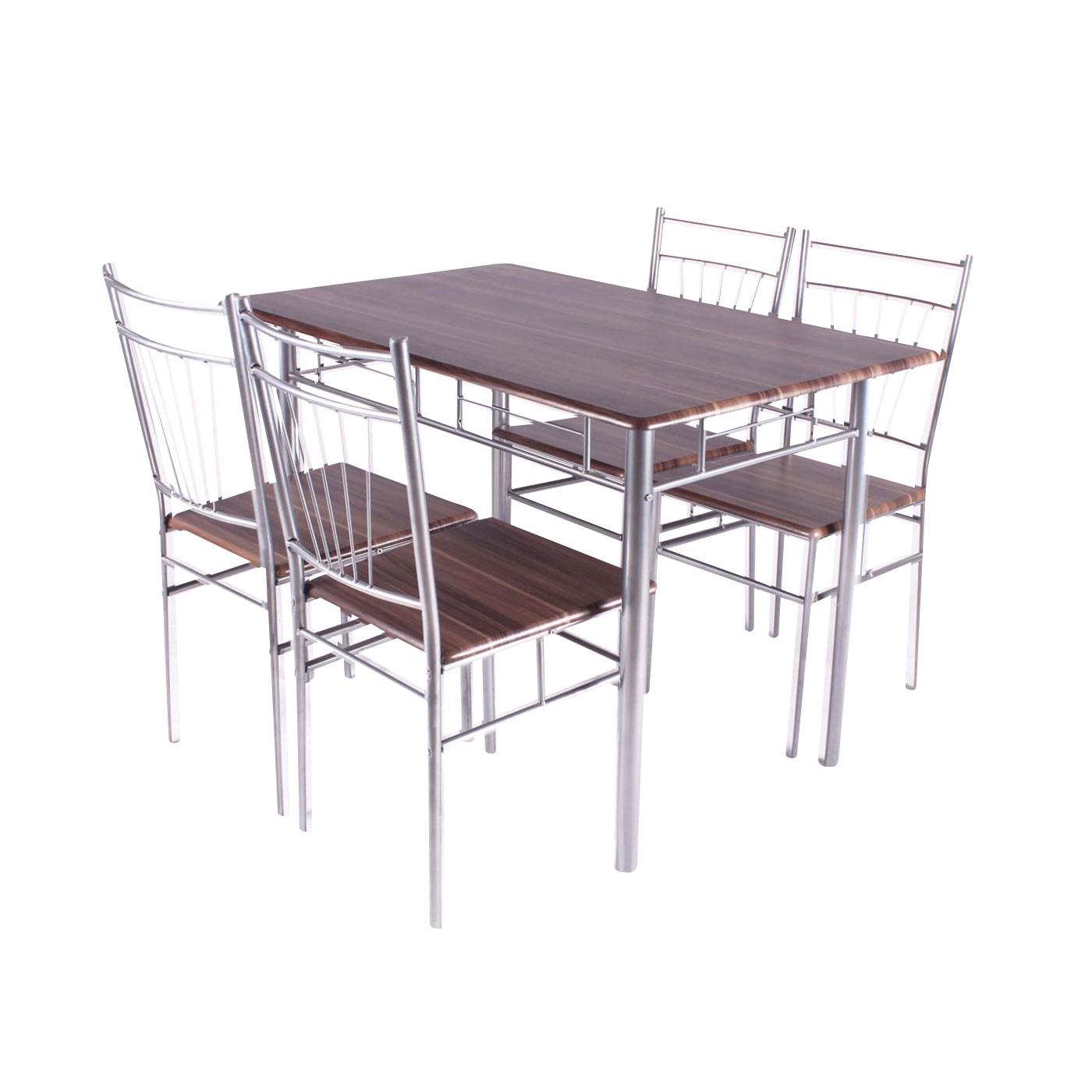 Dedeman set masa fixa cu 4 scaune bucatarie aa0210 maro for Masa cu scaune dedeman