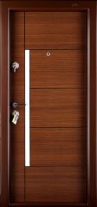 Usa interior metalica Prestige 1 lux 1017, dreapta, nuc bergama, 200 x 88 cm