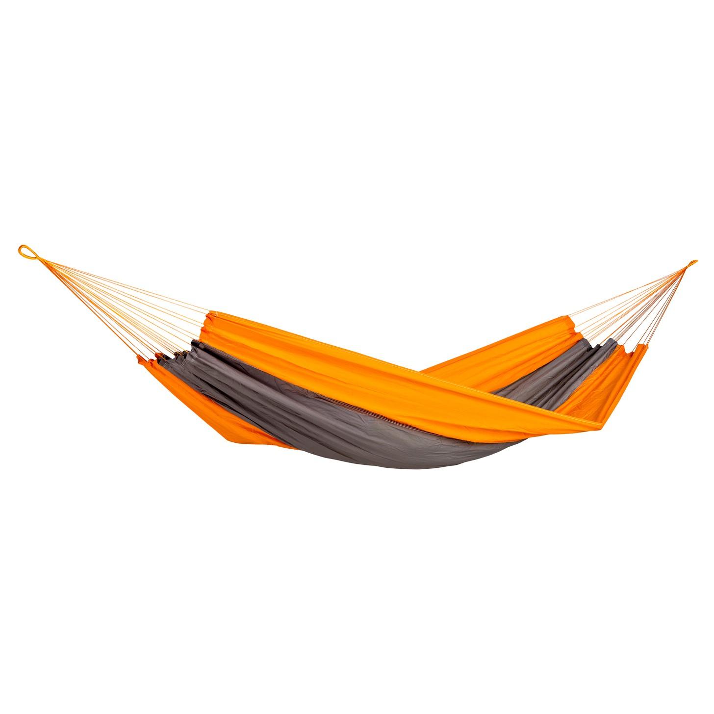 Hamac Traveller Techno, gri - portocaliu, 220 x 140 cm