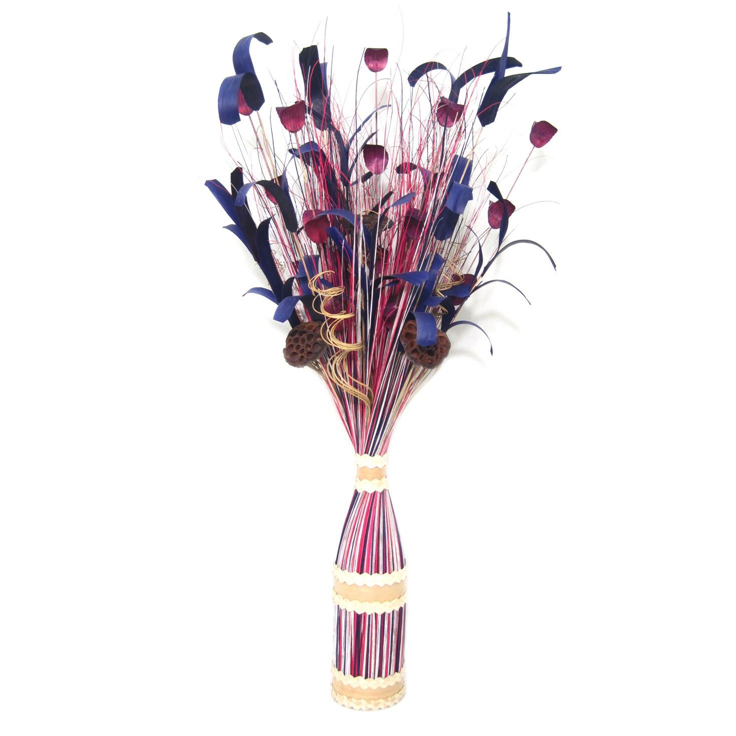 Flori uscate, 116 AR 36025, 100 cm, roz + alb + mov