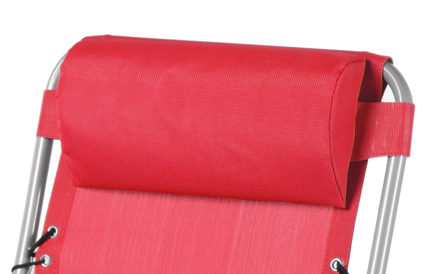 Scaun camping pliant 331.170RD structura metalica rosu 62 x 109 cm