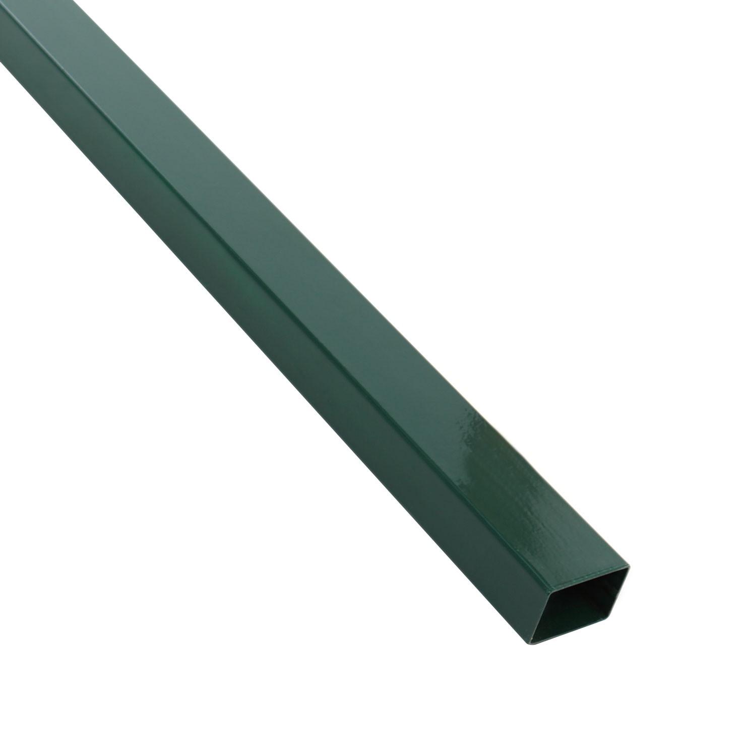 Stalp de gard verde dreptunghiular 2.5 m 60 x 40 mm
