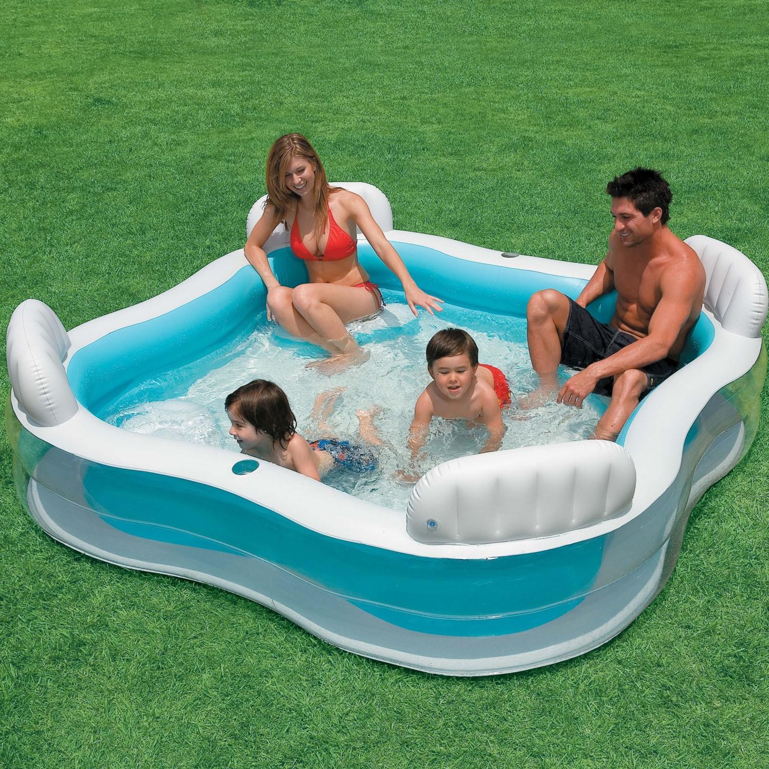 Piscina gonflabila Intex Swim Center 56475, 229 x 229 x 66 cm