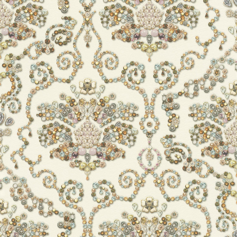 Tapet hartie, model floral, Rasch Tiles&More 307603 10 x 0.53 m