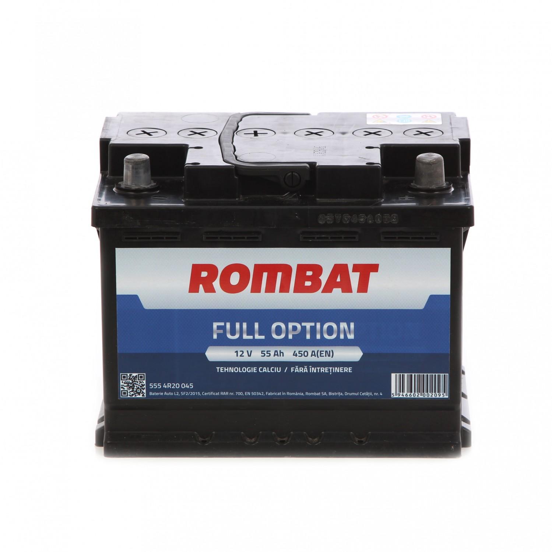 Baterie auto Rombat Full Option 12 V, 55 Ah, 450 A, 24.2 x 17.5 x 16.8 cm