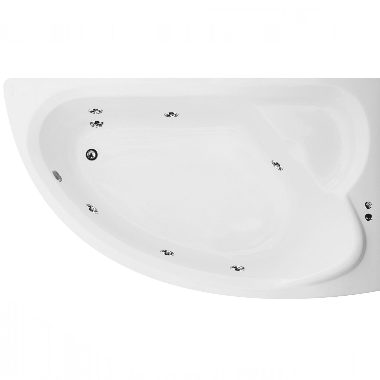 Cada baie cu hidromasaj asimetrica, pe colt, dreapta Martplast Corsica, acril, 165 x 96 cm