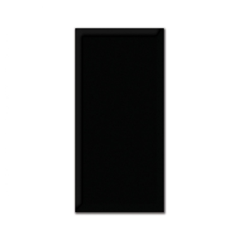 Faianta baie Metro neagra lucioasa 10 x 20 cm