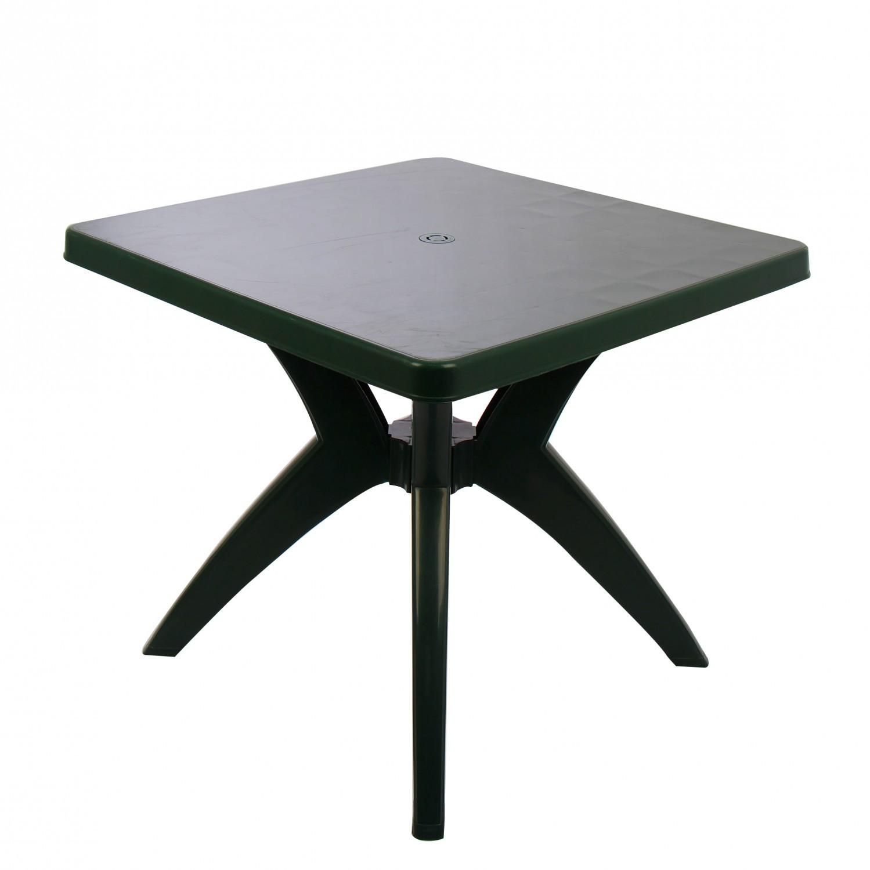Masa fixa pentru gradina Dol, plastic, patrata, 4 persoane, 80 x 80 x 72 cm