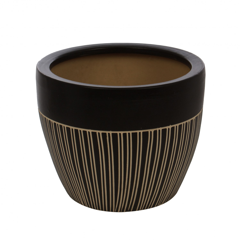 Ghiveci ceramic 112099RO, rotund, 29 x 23 cm