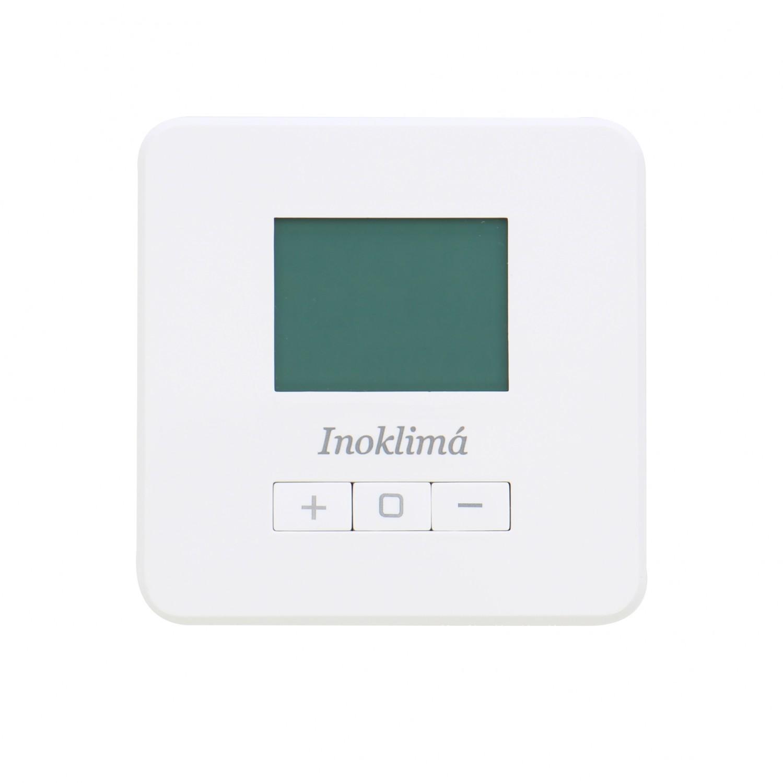 Termostat de ambient pentru centrala, cu fir, Inoklima Evo X, neprogramabil, 2 x AA, 230 V