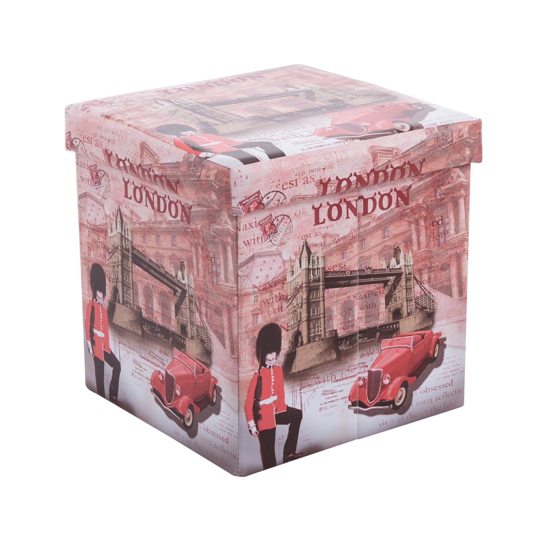 Taburet pliabil London 3 din PVC multicolor