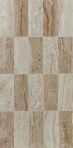 Decor faianta baie / bucatarie Dahino Mozaic lucios crem 25 x 50 cm