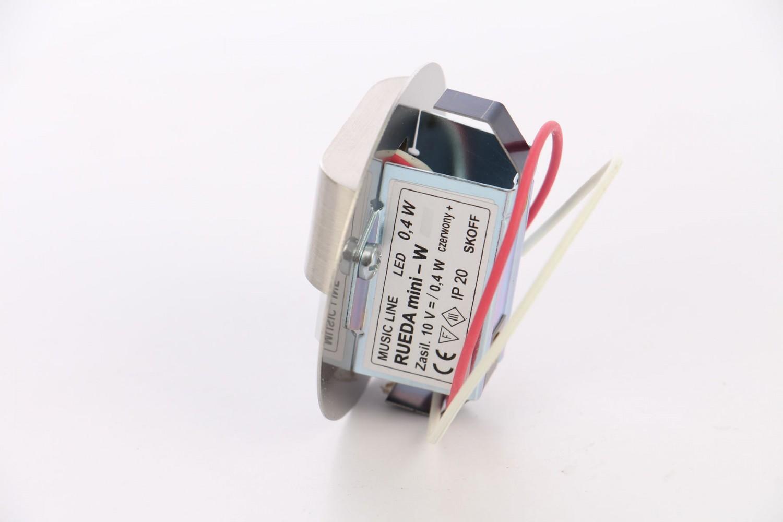 Spot LED incastrat Rueda Mini Skoff, 0.40W, inox - alb