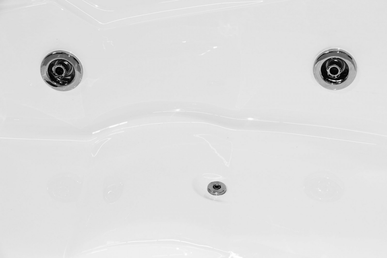 Cada baie cu hidromasaj asimetrica, pe colt, montaj pe dreapta, Kadda Aisha, masca inclusa, acril, 168 x 120 cm
