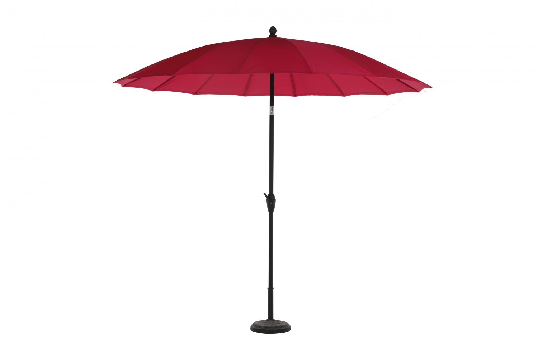 Umbrela soare pentru terasa Shanghai 311.454RD rotunda structura metal rosu D 270 cm