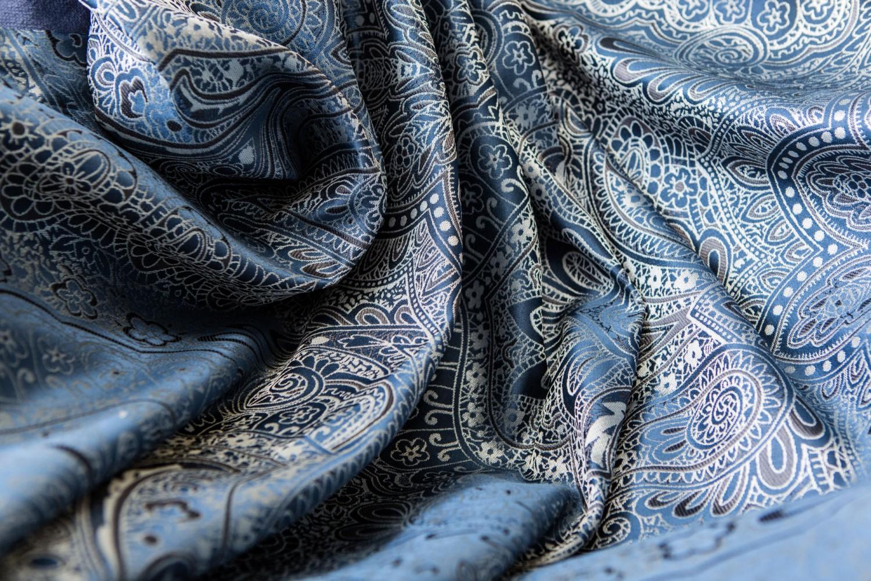 Draperie Amirah, PES 100%, albastru, H 300 cm