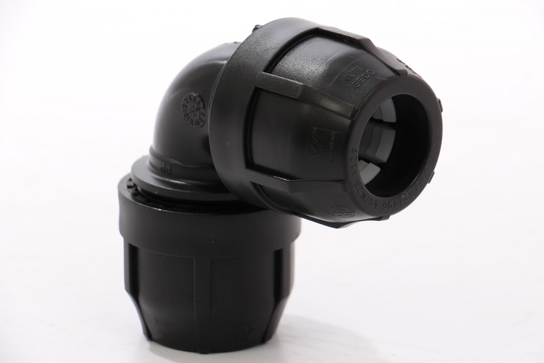 Cot compresiune PEHD, D 32 mm, 90 grade