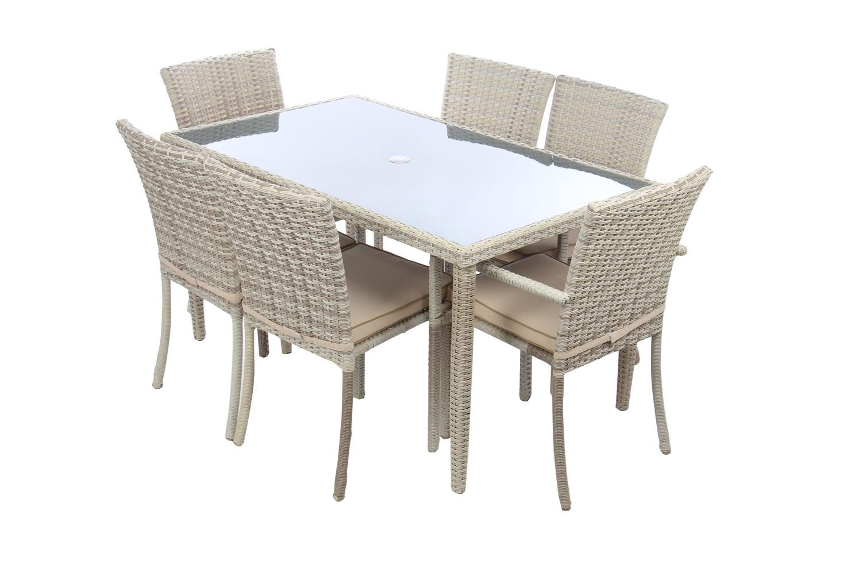 Dedeman set masa cu 6 scaune cu perne pentru gradina for Masa cu scaune dedeman