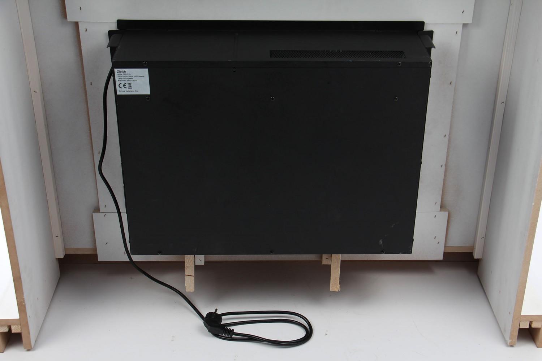 Semineu electric cu aeroterma, alb, din MDF, 2000 W, 1140  x 950 x 345 mm, cu telecomanda