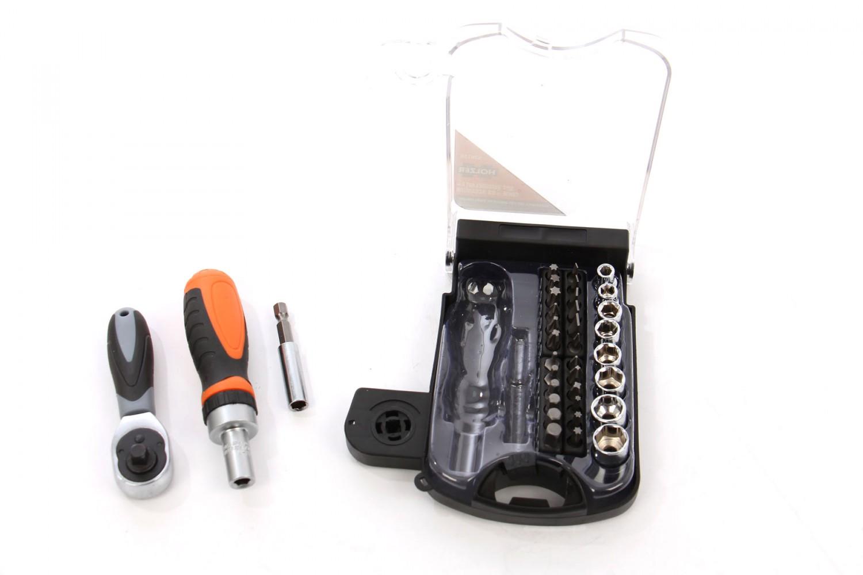 Set Holzer surubelnita + cheie + 33 accesorii