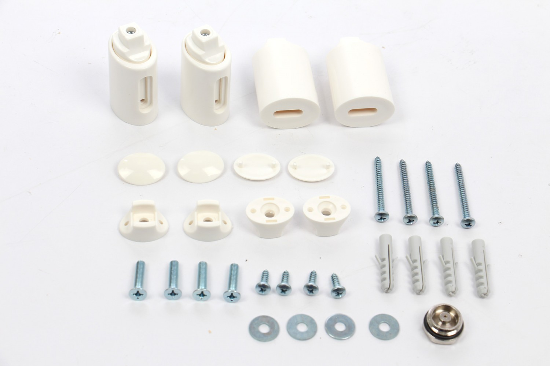 Radiator baie Radox Round, portprosop, curbat, alb,  450 x 1500 mm  + accesorii montaj