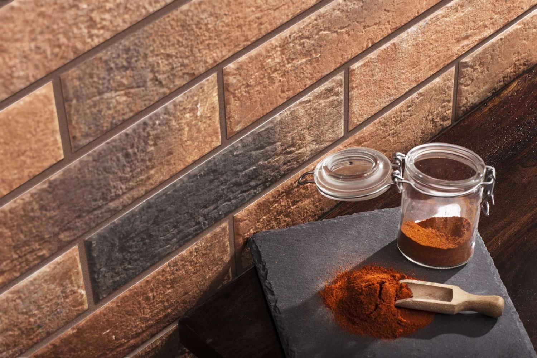 Placa soclu exterior Loft brick chili, mata, 6.5 x 24.5 cm