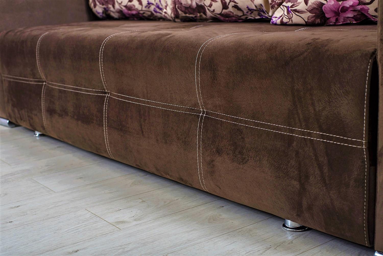 Canapea extensibila 3 locuri Optimus, cu lada, maro, 242 x 100 x 88 cm, 1C
