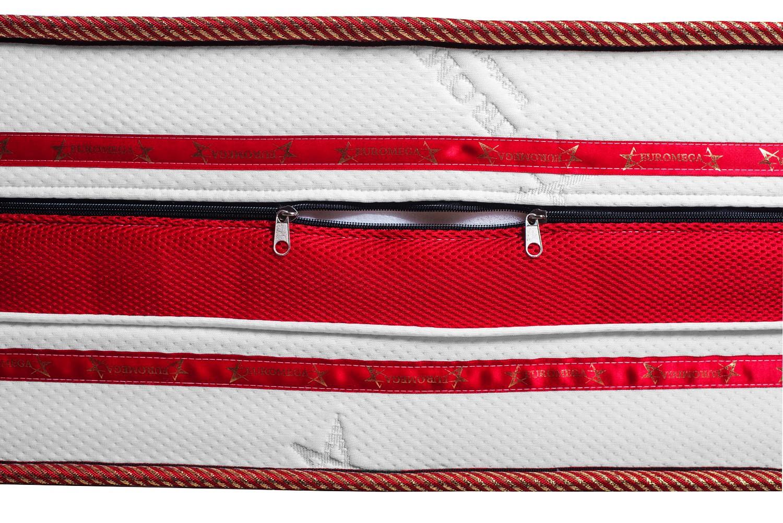 Saltea pat Euro Mega Romance, 1 persoana, cu spuma poliuretanica + memory, fara arcuri, 90 x 200 cm
