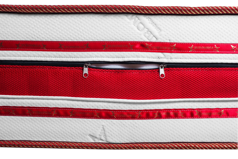 Saltea pat Euro Mega Romance, cu spuma poliuretanica + memory, fara arcuri, 140 x 200 cm