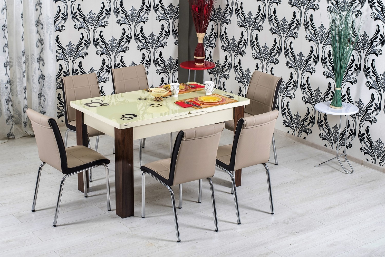 Dedeman set masa extensibila cu 6 scaune bucatarie r344 for Masa cu scaune dedeman