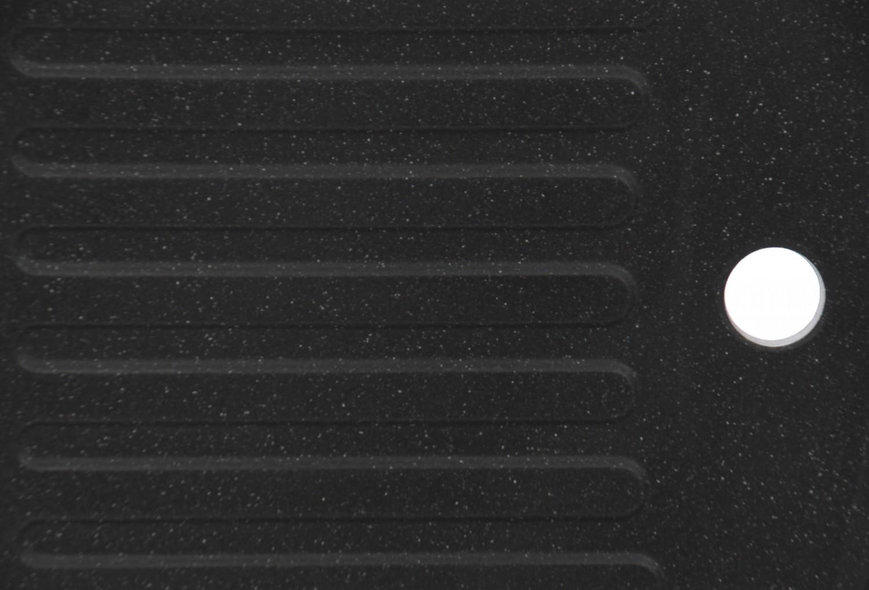 Chiuveta bucatarie compozit algranit Alveus Record 30 A91 carbon neagra cuva stanga / dreapta 78 x 48 cm