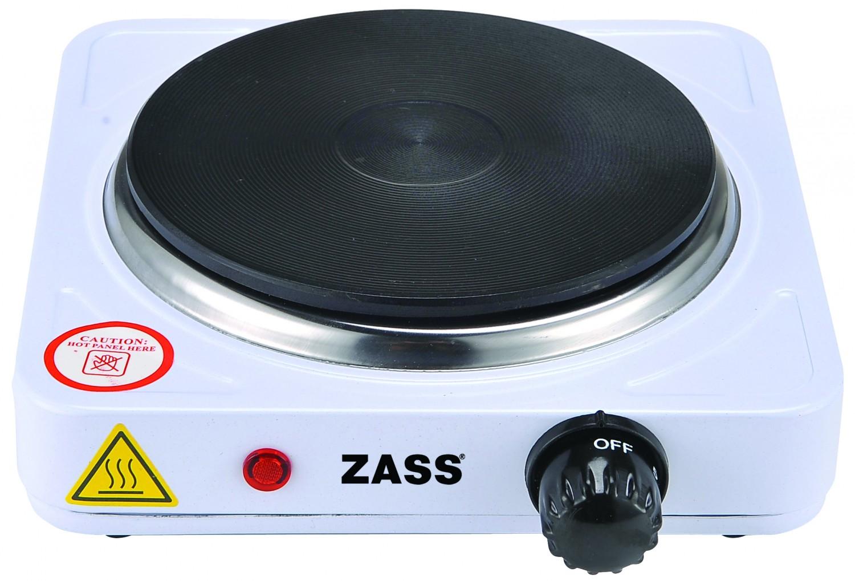 Plita electrica Zass ZHP 04A, 1000 W, 1 arzator, termostat reglabil, alb
